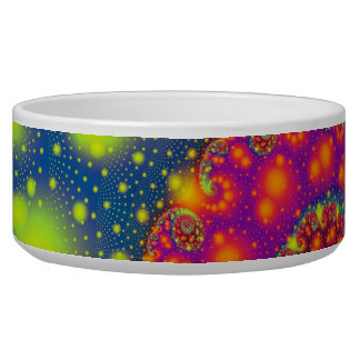 Psychedelic Spiral Neon Decorative Abstract Art Bowl