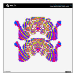 Psychedelic Spiral Pattern: Decal For PS3 Controller