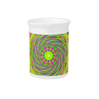 Psychedelic Spiral Pattern: Drink Pitcher