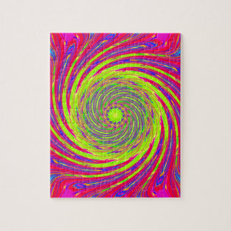 Psychedelic Spiral Pattern: Jigsaw Puzzle