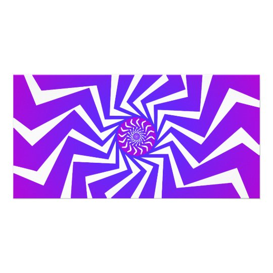 Psychedelic Spiral Pattern: Vector Art: Card
