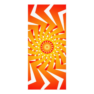 Psychedelic Spiral Pattern Vector Art Rack Card Template