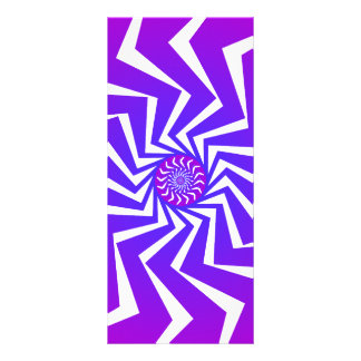 Psychedelic Spiral Pattern Vector Art Personalized Rack Card