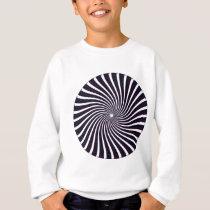 Psychedelic Spiral Pattern: Vector Art: Sweatshirt