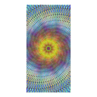 Psychedelic spiral photo card