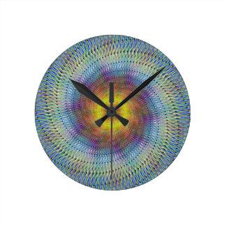 Psychedelic spiral round clock