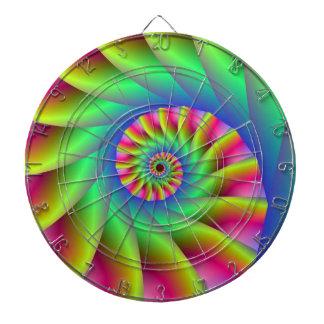 Psychedelic Spiral Steps Dart Board