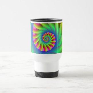 Psychedelic Spiral Steps Travel Mug