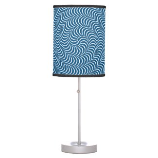 psychedelic spiral table lamp