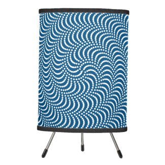 psychedelic spiral tripod lamp