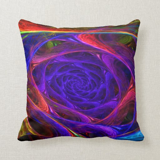 """""""Psychedelic Spirals"""" Psychedelic Abstract Pillow"""