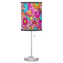 Psychedelic Splash Pattern Table Lamp