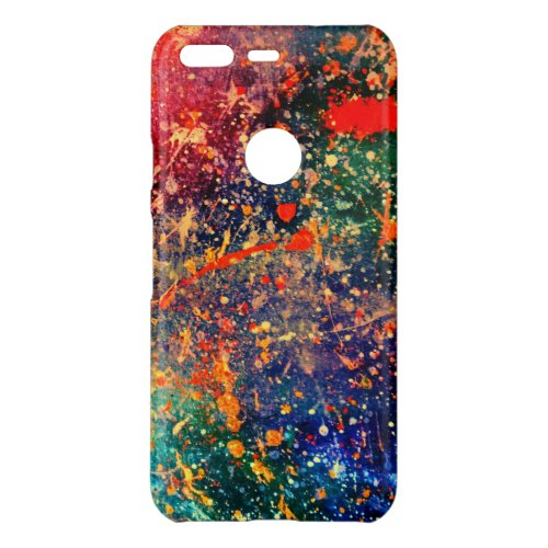 Psychedelic Splatter   Colorful Rainbow Abstract Phone Case