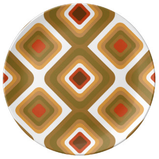 Psychedelic squares dinner plate