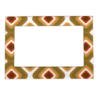 Psychedelic squares magnetic picture frame