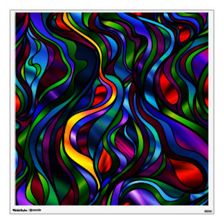 Psychedelic Stained Glass Abstract Wall Sticker