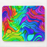 Psychedelic Stained Glass Pattern Mouse Pads