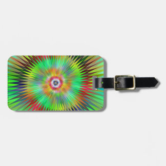Psychedelic Starburst Fractal Luggage Tag