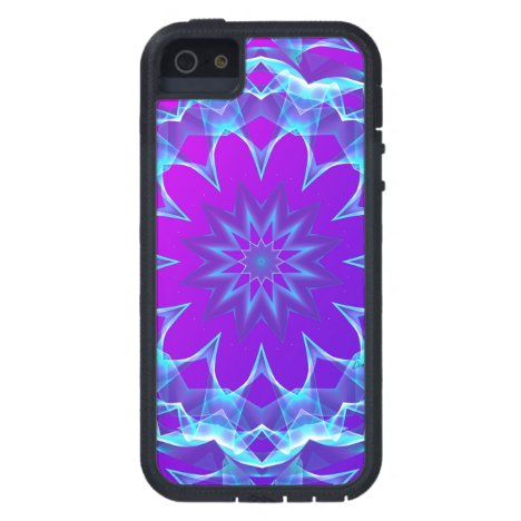 Psychedelic Stars, Abstract Violet Purple Glow iPhone SE/5/5s Case