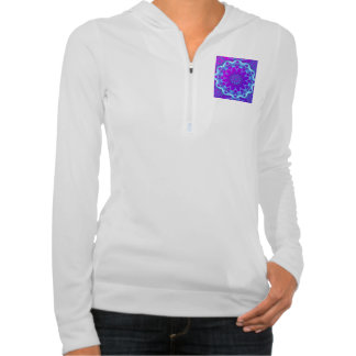 Psychedelic Stars, Abstract Violet Purple Glow Pullover