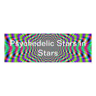 Psychedelic Stars in Stars Business Card Pack Of Skinny Business Cards