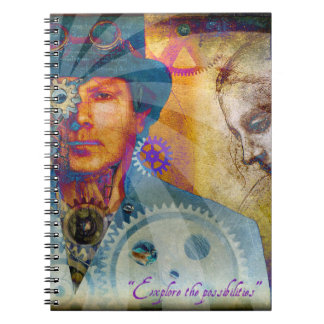 Psychedelic Steampunk Notebook