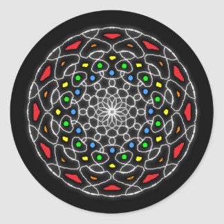 Psychedelic Stickers coloured kaleidoscope