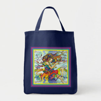 Psychedelic Strands Tote Bag