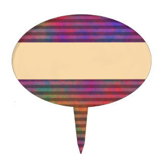 Psychedelic Stripes - Colorful Striped Abstract Cake Picks