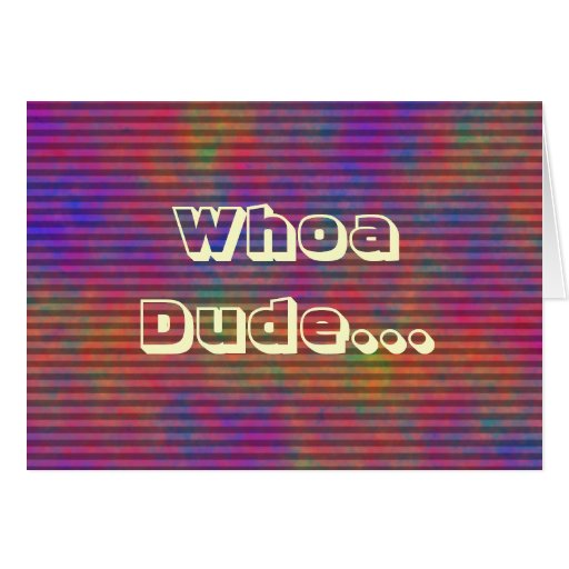 Psychedelic Stripes - Colorful Striped Abstract Greeting Card