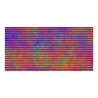 Psychedelic Stripes - Colorful Striped Abstract Card