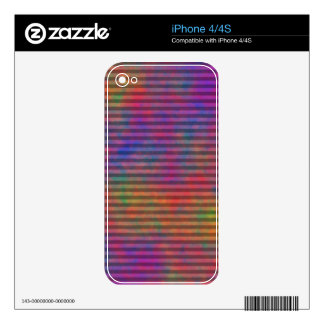 Psychedelic Stripes - Colorful Striped Abstract iPhone 4S Skins