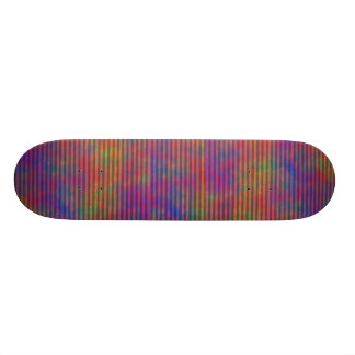 Psychedelic Stripes - Colorful Striped Abstract Skate Decks