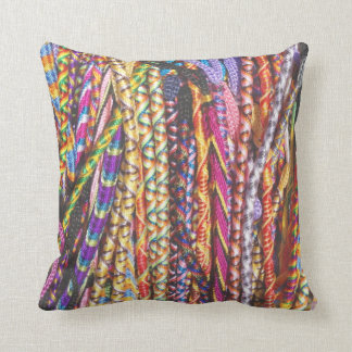 Psychedelic Stripes Throw Pillow
