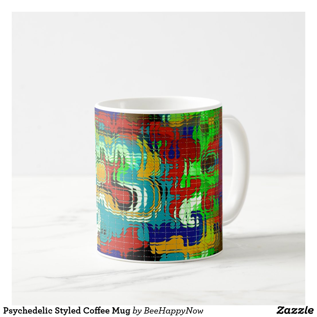 Psychedelic Styled Coffee Mug