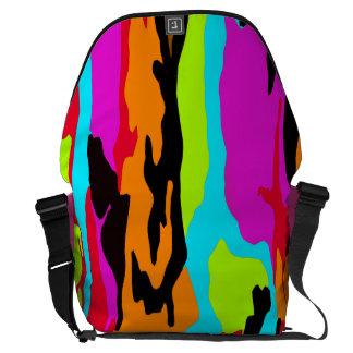 Psychedelic Suburban Camo Messenger Bag