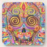 Psychedelic Sugar Skull Coasters - Set of 6