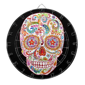 Psychedelic Sugar Skull Dartboard Day of the Dead