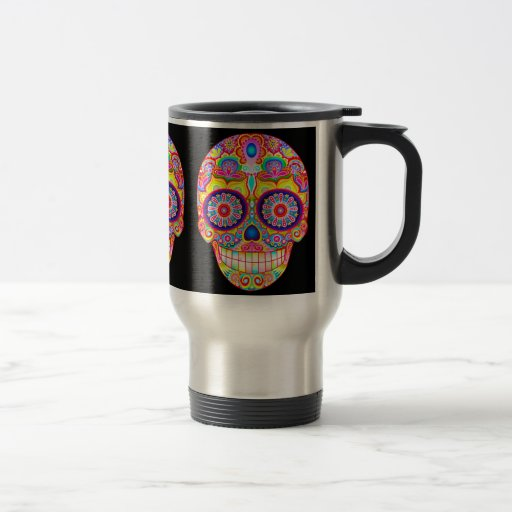 Psychedelic Sugar Skull Mug - Day of the Dead