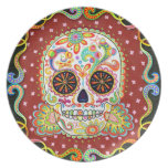 Psychedelic Sugar Skull Plate