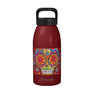 Psychedelic Sugar Skull Water Bottle Reusable Water Bottles