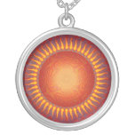 Psychedelic Sun: Abstract Art: Necklace