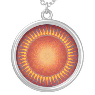 Psychedelic Sun Abstract Art Necklace