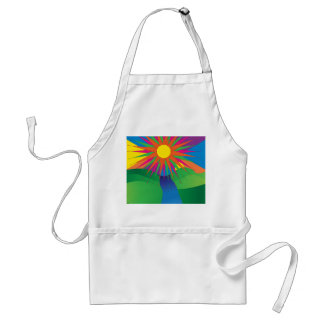 Psychedelic Sun Adult Apron