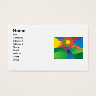 psychedelic sun business card