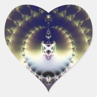 Psychedelic Sun Heart Sticker