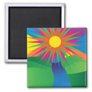 psychedelic sun magnet
