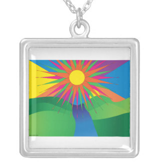 Psychedelic Sun Necklace