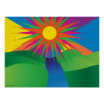 Psychedelic Sun Poster