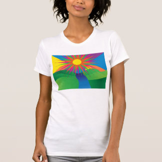 psychedelic sun shirt